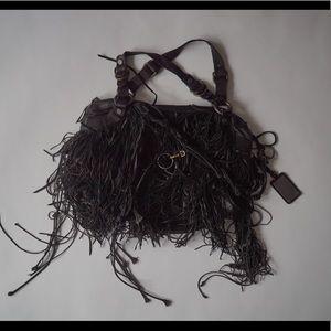 HUGO BOSS BoHo Tassel Leather Purse